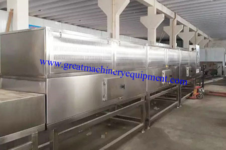 Continuous Tunnel Microwave Drying Sterilizing Equipmen